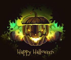 Halloween pumpkin lantern vector