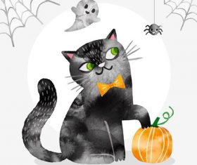 Halloween watercolor illustration vector