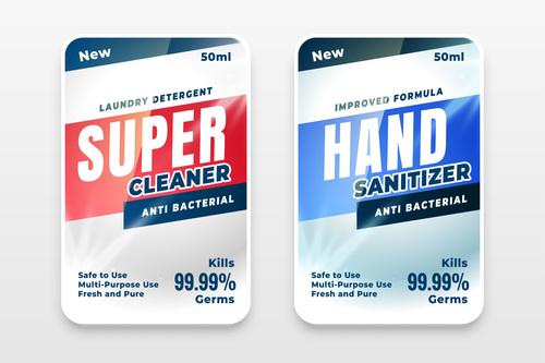 Hand sanitizer label vector