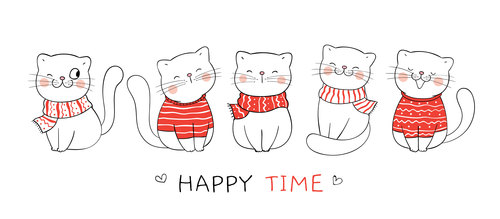 Happy time illustrations vector