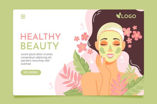 Healthy beauty card vector