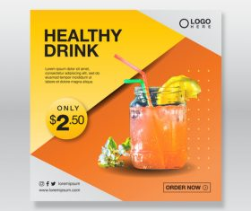 Healthy drink cover vector