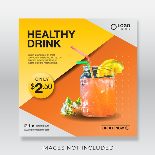 Healthy drink cover vector