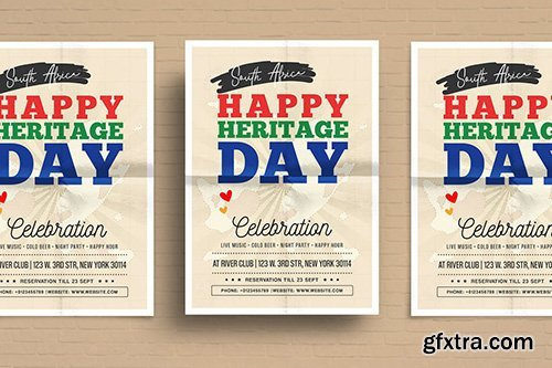 Heritage Day Flyer Template vector