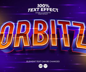 Highlight the orbitz editable font effect text vector