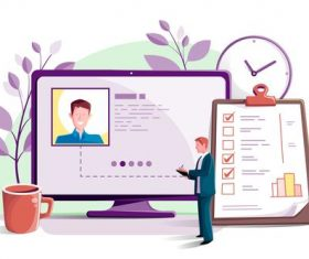 Hiring flat design illustration vector