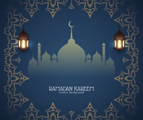 Holiday card ramadan vector