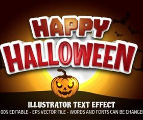 Holiday editable font effect text vector