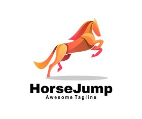 Horse jump icon vector