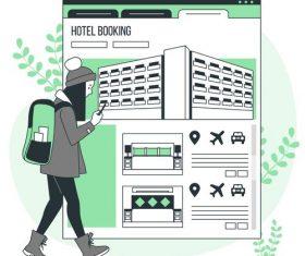 Hotel booking vector