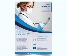 How to prevent COVID-19 flyer vector
