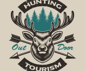 Hunting logo vector