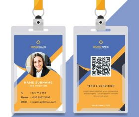 ID card front and back vector