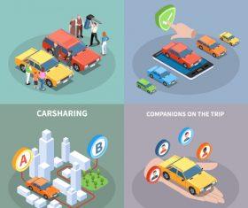 Icon car sharing vector