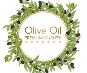 Illustration olive cover vector