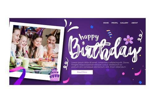 Instagram posts birthday photo vector