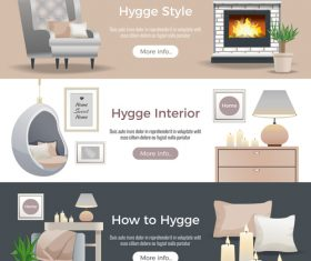 Interior decoration style vector