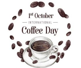 International day of coffee vector