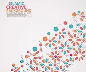 Islamic creative background vector