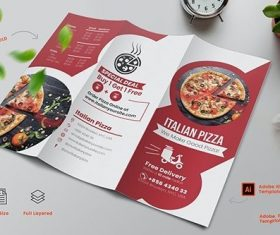 Italian Pizza Menu Trifold vector