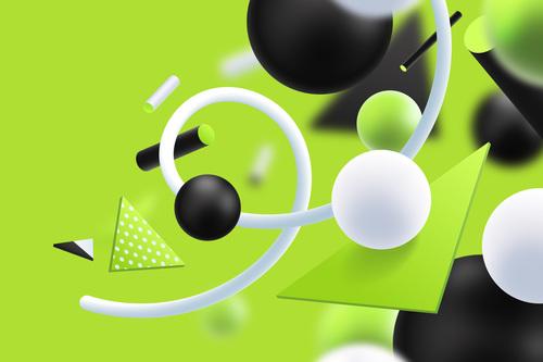 Jade green background 3D graphic vector