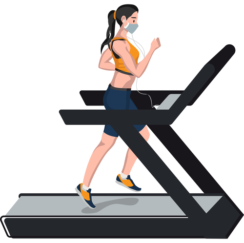 Jogging exercise vector