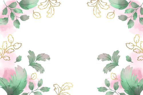 Leaf background vector