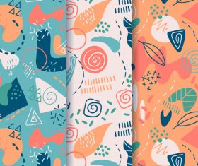 Leaves abstract seamless pattern vector