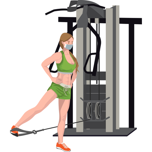 Leg exercise correct posture vector