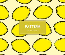 Lemon decorative seamless pattern background vector