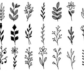 Line grass vector