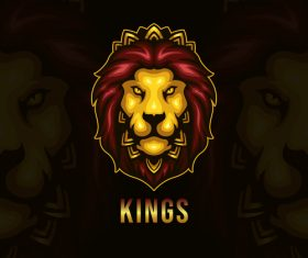 Lion emblem gaming vector