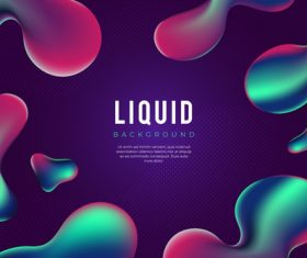 Liquid abstract background vector