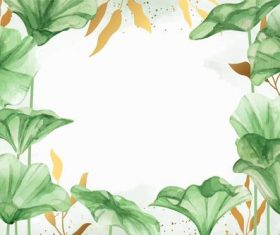 Lotus leaf background vector