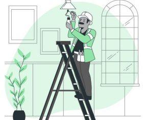 Maintenance worker vector