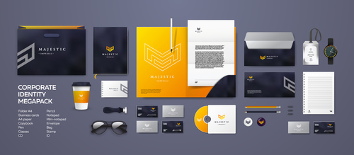 Majestic corporate branding identity template vector