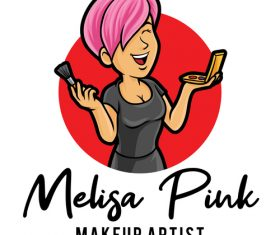 Makeup artist icon vector