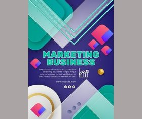 Marketing Business Flyer Template vector