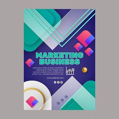 Marketing Business Flyer Template vector