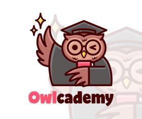 Mascot logo owl vector
