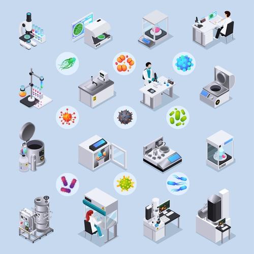 Medical institute equipment icon vector