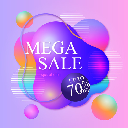 Mega sale abstract background vector