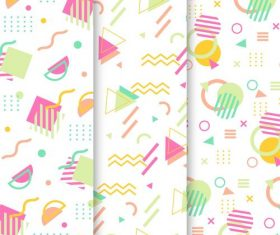 Memphis geometric pattern background vector
