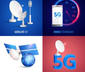 Mobile 5G technology vector