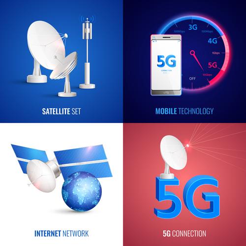 Mobile 5G technology vector