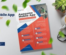 Mobile App Flyer vector
