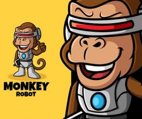 Monkey robot vector
