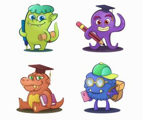 Monster drawn design illustrations vector