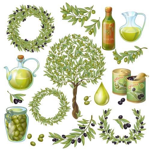 Natural olives vector