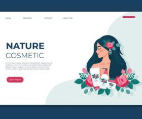 Nature cosmetic card vector